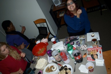 Cookies and Conversation for Kathleen's December birthday.