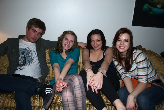 My favorite ladies, and Sterling, too. Party at Sterling's in March 2011.