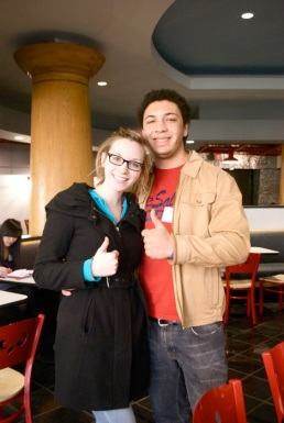 Sidney came to Temple one day, and I happened to be in the neighborhood, so we did lunch!