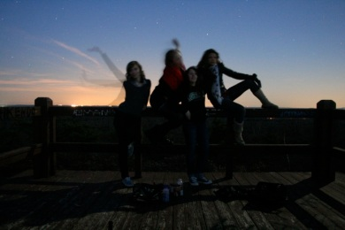 We finally caught a sunset at the Pine Hill Vista on November 13, 2010.