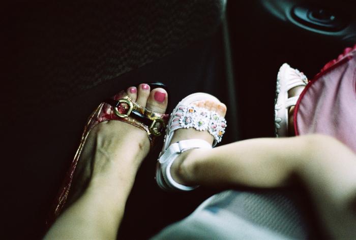 Sophia and Betty's feet.