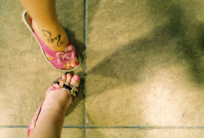 Betty and Lisa's feet.
