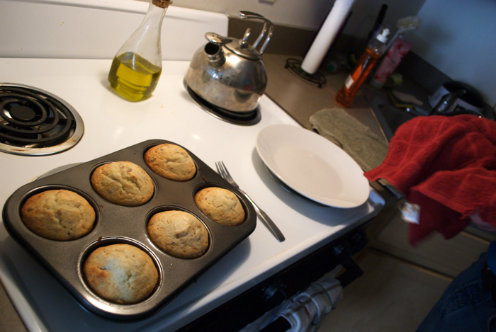 Kyle made these muffins all by himself in my kitchen!