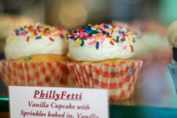 Original, yet sparkling: The PhillyFetti cupcake.