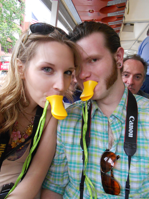 We earned our Quackers! The guy in the background didn't.