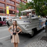 Me & Duck Boat 51! I forget what special event occurred on this one.. some food show where they compared Pat's and Gino's cheesesteaks?
