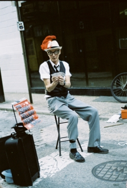 Sonny Holliday, street magician.