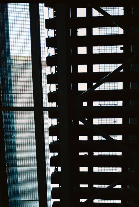 The underbelly of the Ben Franklin Bridge.