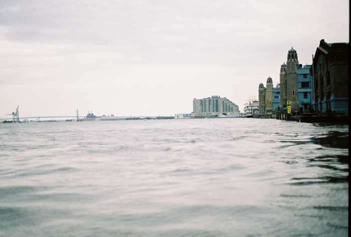 The great open Delaware River - and Will Smith's condo.