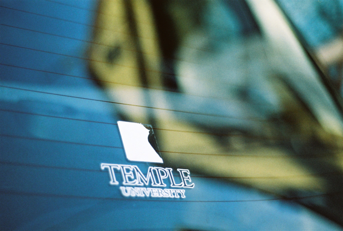 My Temple decal has faded on my rear windshield. Time for a new one.