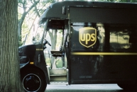 This UPS truck was bumpin with old school rap.