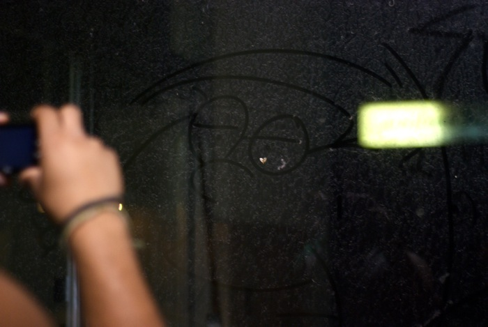 Sidney captures Peter Griffin etched in dust with my bean.