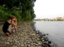 Betty shoots along the shore of the west side of the Susquehanna.