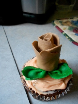 Bre's rose. She was very proud of this. Who gets to eat it?