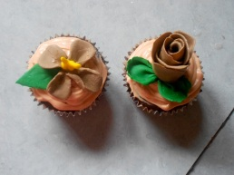 Bre's exotic flower cupcakes.