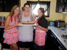Cupcake baking with Betty, Bre, and Nicole!