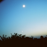 The moon exposed on film.