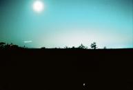 Moonrise on film.