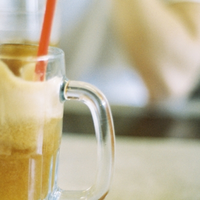 Iced apple cider, very delicious.