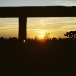 Sunset on film at the Vista.