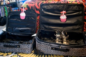 This is all I need.  Unfortunately, these wonderful leopard print luggage pieces dry rotted inside, and I had to get new ones!