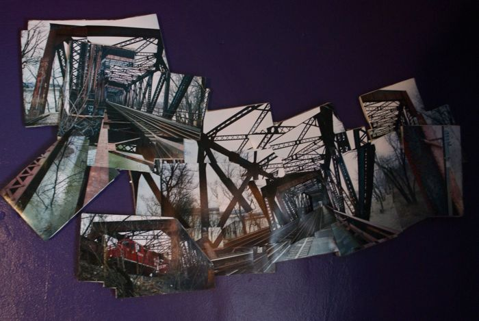 Photo collage of the Black Diamond Bridge from 2008.