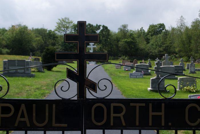 Russian Orthodox cemetery.