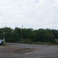 """The """"parking lot"""" for Centralia along PA-61."""