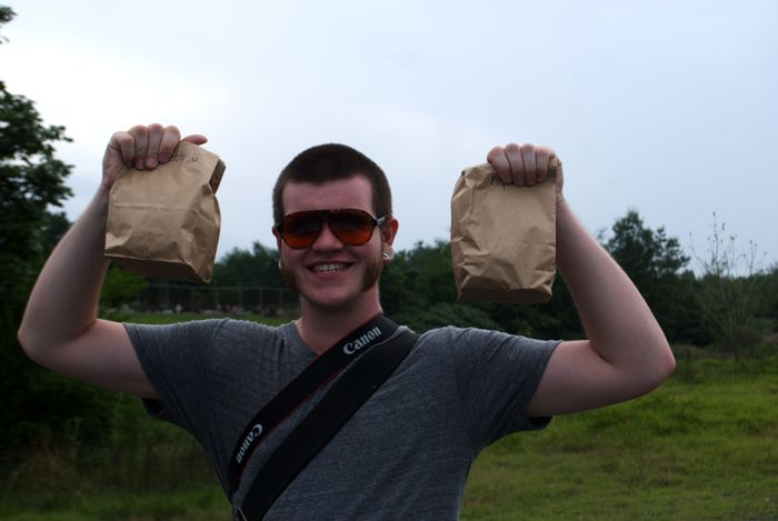 I brought customized lunches for a fiery picnic at Centralia!