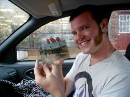 Kyle paid $10 for this postcard of ostriches at an antique shop in Berwick, PA.