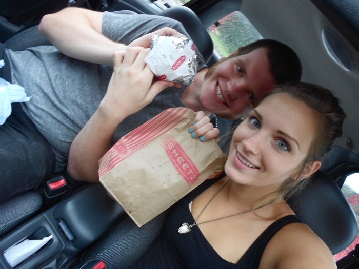 Quick stop at Sheetz in Sugarloaf for breakfast!
