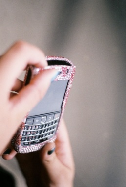 Ally's b'dazzled Blackberry.