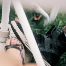 Big foot, medium foot, little foot.