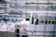 Steamtown train yard.