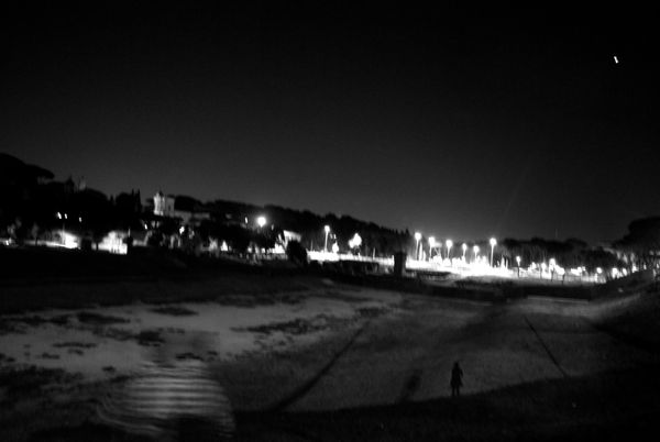 The only ones left at Circus Maximus.