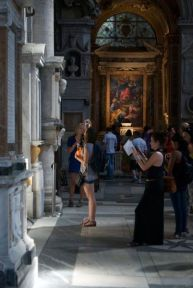 Practicing shooting in the Santa Maria del Popolo, an excuse for me to explore.