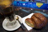 A quick stop for caffè freddo and cornetto at Profili Caffè.