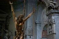 A modern bronze crucifix in Santa Maria del Popolo. Still don't know who made it.