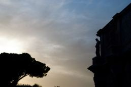 It's an Arch of Constantine kind of sunset.