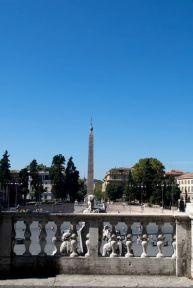 Piazza del Popolo from the Pincio.