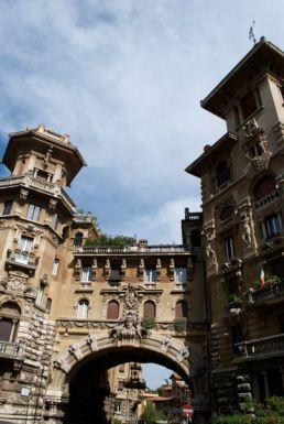 Quartiere Coppedè in Trieste, Rome, Italy.