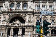 Palace of Justice built in 1911, dubbed Palazzaccio due to its over-exaggerated features.