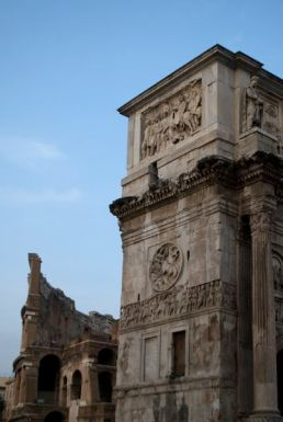 Colosseum & Arch of Constantine.
