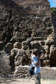 Kyle & a piece of Aurelian wall.