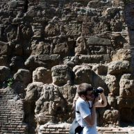 Kyle & a piece of Aurelian wall.