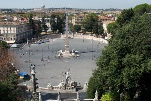 The Piazza del Popolo from the Pincio.