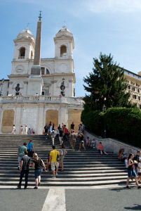 The Spanish Steps.