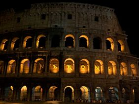 Colosseum at night.
