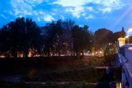 The Tiber River.