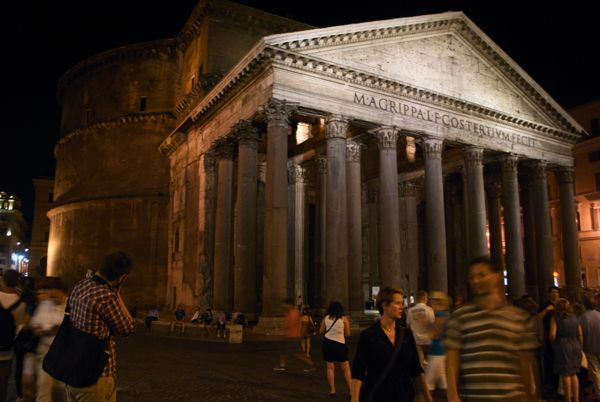 The Pantheon in the evening.